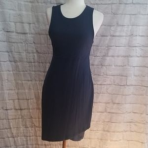 Athleta Casual Fitted Navy Blue Dress Size S